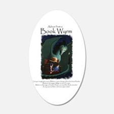 Advice from a Book Wyrm Wall Decal