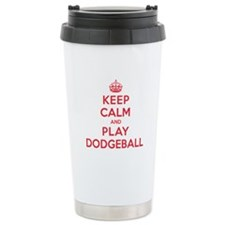 Keep Calm Play Dodgeball Travel Mug