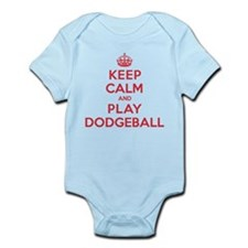 Keep Calm Play Dodgeball Infant Bodysuit