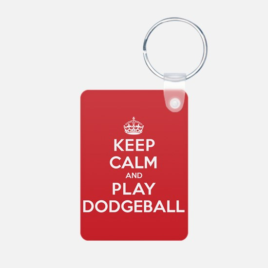 Keep Calm Play Dodgeball Keychains