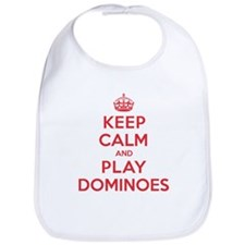Keep Calm Play Dominoes Bib
