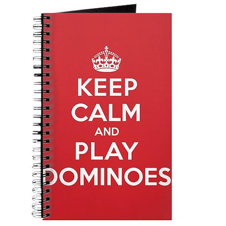 Keep Calm Play Dominoes Journal