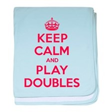 Keep Calm Play Doubles baby blanket