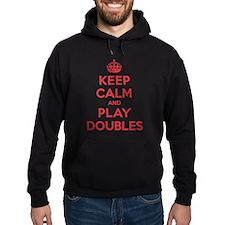 Keep Calm Play Doubles Hoodie