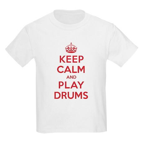 Keep Calm Play Drums Kids Light T-Shirt