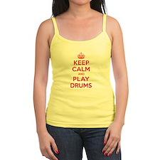 Keep Calm Play Drums Jr.Spaghetti Strap