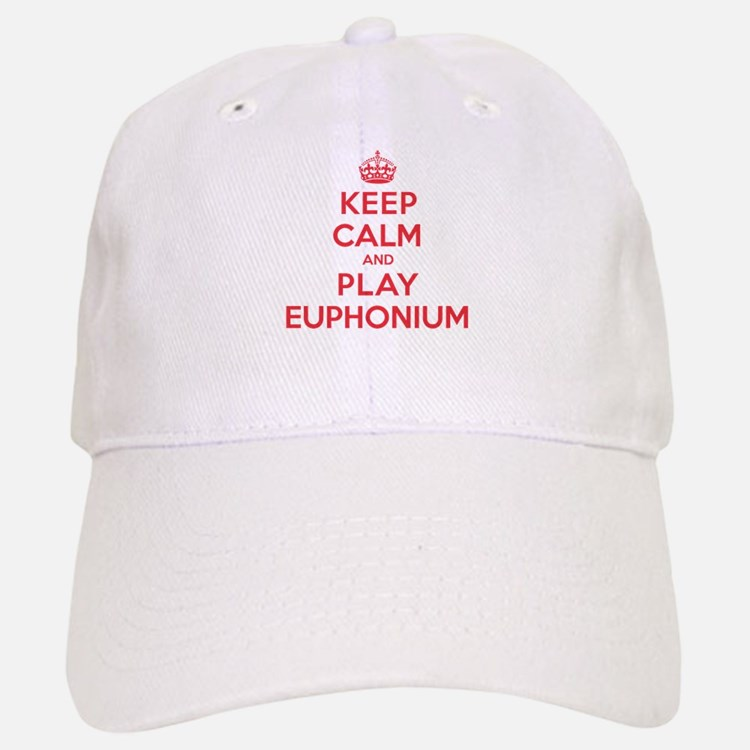 Keep Calm Play Euphonium Baseball Baseball Cap