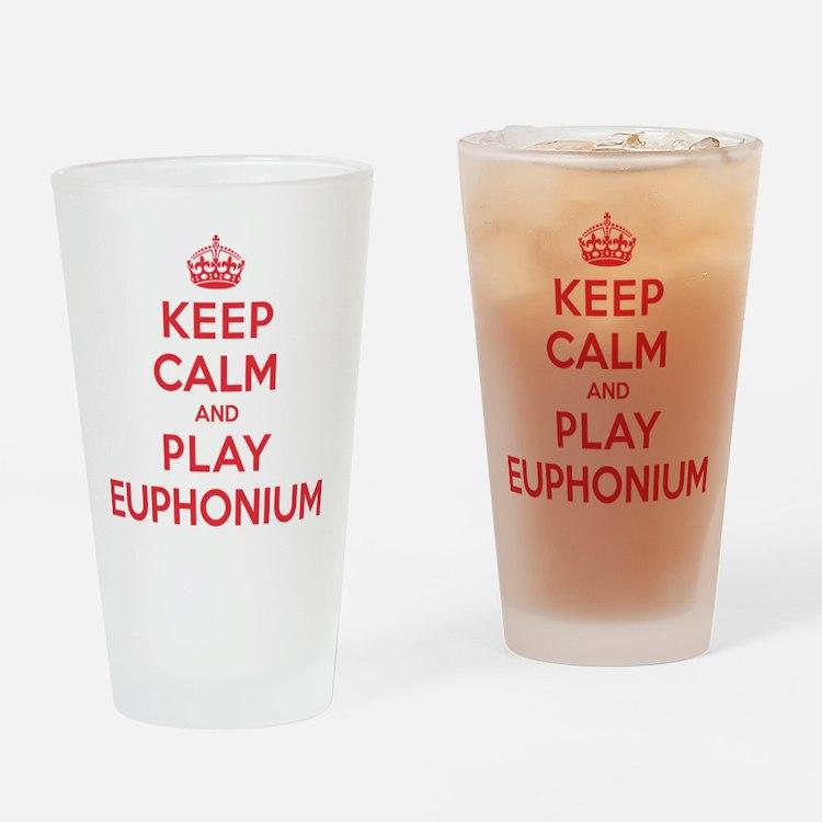 Keep Calm Play Euphonium Drinking Glass
