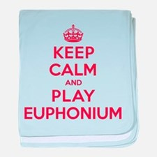 Keep Calm Play Euphonium baby blanket