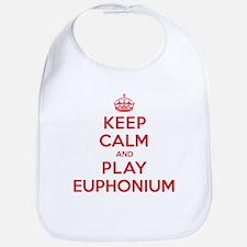 Keep Calm Play Euphonium Bib