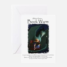 Advice from a Book Wyrm Greeting Card