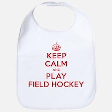 Keep Calm Play Field Hockey Bib