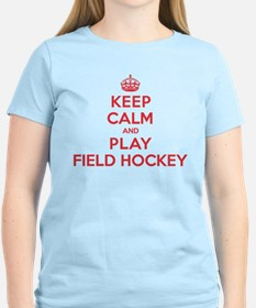 Keep Calm Play Field Hockey T-Shirt