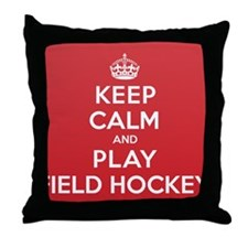Keep Calm Play Field Hockey Throw Pillow