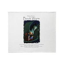 Advice from a Book Wyrm Throw Blanket