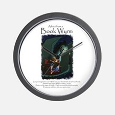 Advice from a Book Wyrm Wall Clock