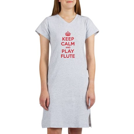 Keep Calm Play Flute Women's Nightshirt