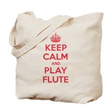 Keep Calm Play Flute Tote Bag
