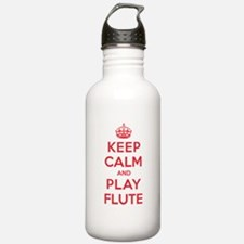 Keep Calm Play Flute Water Bottle