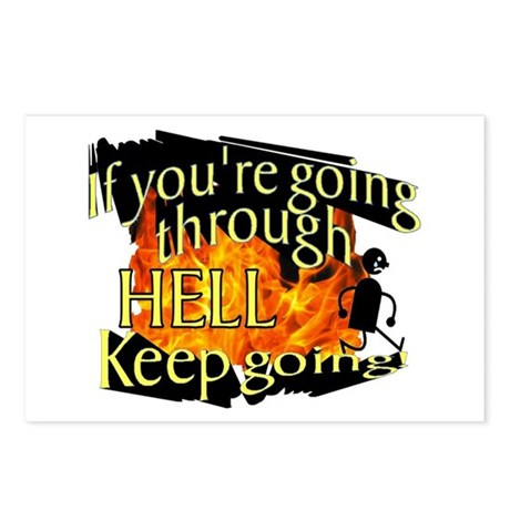 Going through hell Postcards (Package of 8)