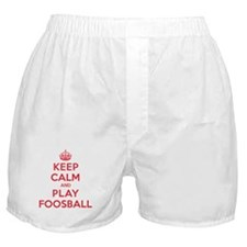 Keep Calm Play Foosball Boxer Shorts