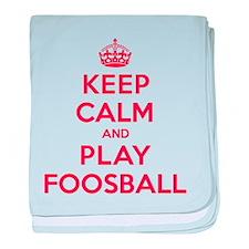 Keep Calm Play Foosball baby blanket