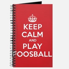 Keep Calm Play Foosball Journal