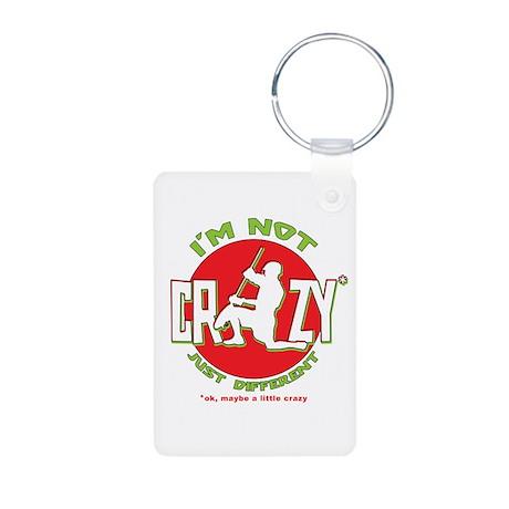 Im Not Crazy (lacrosse) Aluminum Photo Keychain