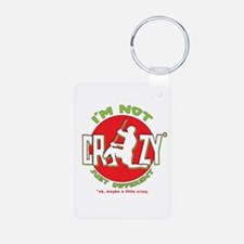 Im Not Crazy (lacrosse) Aluminum Photo Keychain