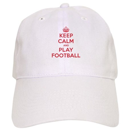 Keep Calm Play Football Cap