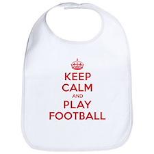 Keep Calm Play Football Bib