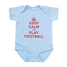 Keep Calm Play Football Infant Bodysuit