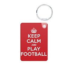 Keep Calm Play Football Keychains