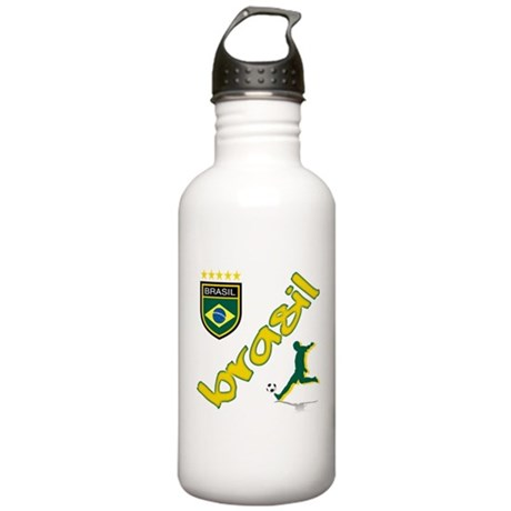 Brasil World Cup Soccer Stainless Water Bottle 1.0