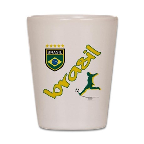 Brasil World Cup Soccer Shot Glass