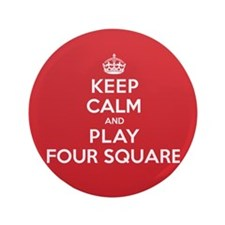 """Keep Calm Play Four Square 3.5"""" Button (100 pack)"""