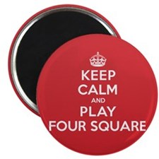 Keep Calm Play Four Square Magnet