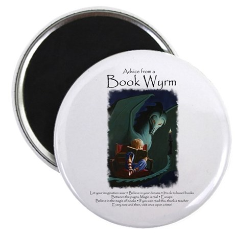 """Advice from a Book Wyrm 2.25"""" Magnet (100 pac"""