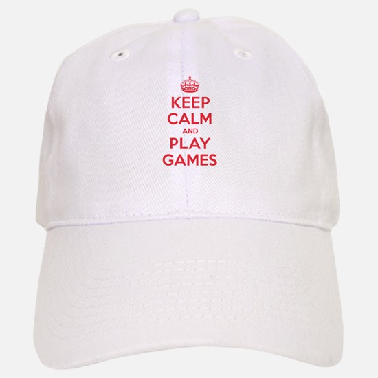 Keep Calm Play Games Baseball Baseball Cap