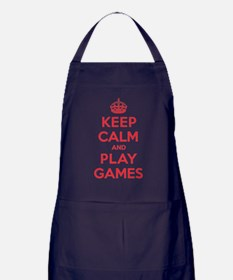 Keep Calm Play Games Apron (dark)
