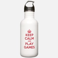 Keep Calm Play Games Water Bottle