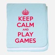 Keep Calm Play Games baby blanket