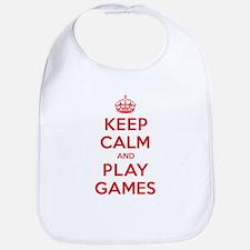 Keep Calm Play Games Bib