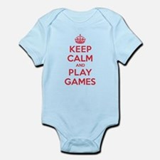Keep Calm Play Games Infant Bodysuit