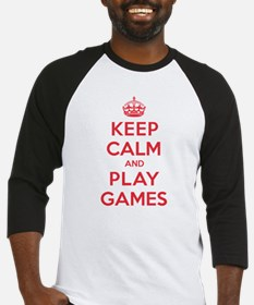 Keep Calm Play Games Baseball Jersey