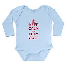 Keep Calm Play Golf Long Sleeve Infant Bodysuit