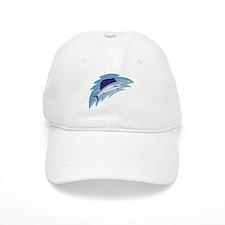 sailfish jumping retro style Baseball Cap