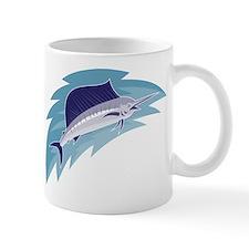 sailfish jumping retro style Mug