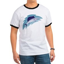 sailfish jumping retro style T
