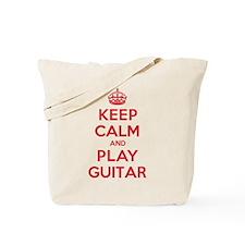 Keep Calm Play Guitar Tote Bag